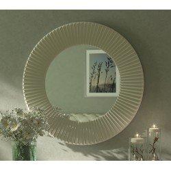 Белое круглое зеркало 002