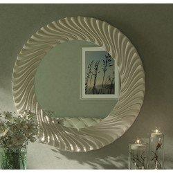 Белое круглое зеркало 003