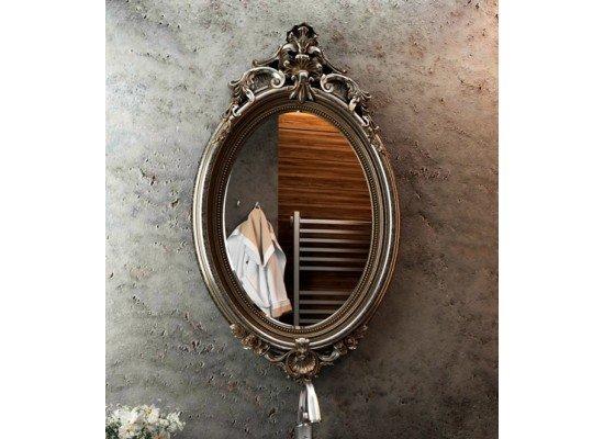 Зеркало в овальной раме с эффектом старины 019