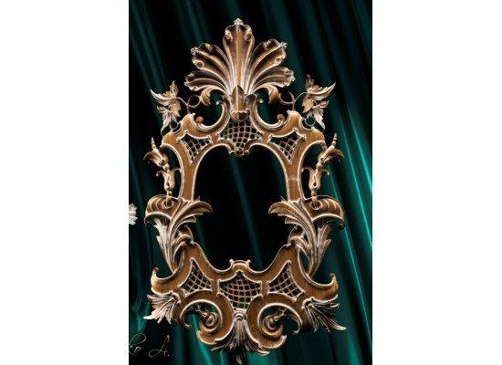Резная деревянная рама для зеркала в стиле барокко 024