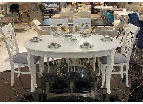Овальный обеденный стол на четырех ногах Хлоя