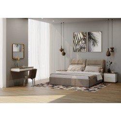 Мягкая кровать в современном стиле Теана