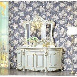 Белый буфет с зеркалом в гостиную Джоконда