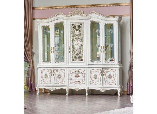 Большая витрина в гостиную Версалес с шелкографией