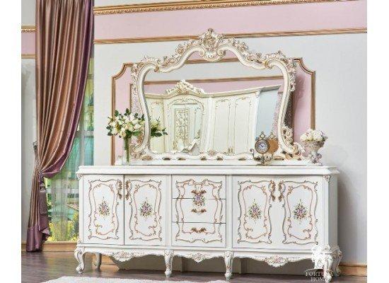 Большой буфет в гостиную Версалес в стиле барокко с расписными фасадами