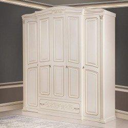 Белый шкаф на 5 дверей для спальни Валерия