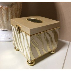 Золотая салфетница в столовую в стиле барокко