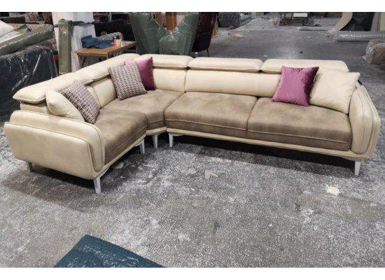 Кожаный угловой диван Тетра, Tetra, BELLA