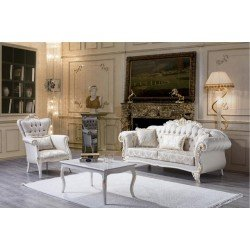 Белый комплект мягкой мебели Лавия в стиле классика, BELLA