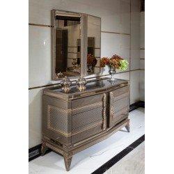 Широкий комод с зеркалом Лавина, АКМ