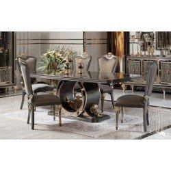 Обеденный прямоугольный стол в стиле АРТ-ДЕКО Калисто, АКМ.