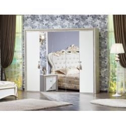 Пятидверный прямой шкаф с зеркалами Адель