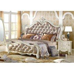 Белая классическая кровать 1800 Адель, Китай