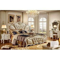 Белая кровать в стиле барокко Роял Пале, Китай