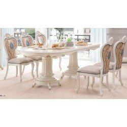 Овальный деревянный стол на 3 метра Т 16 в цвете орех