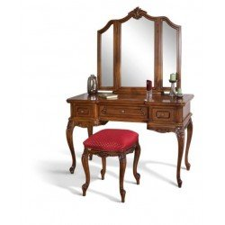 Ореховый туалетный столик с зеркалом Роял, Симекс