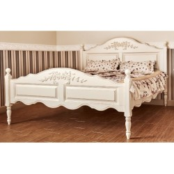 Белая кровать 1200 в стиле ПРОВАНС