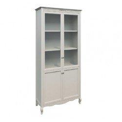 Белая двухдверная витрина- библиотека Селена