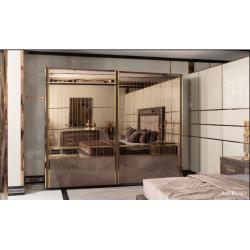 Шкаф-купе с зеркалами в спальню Сопрано