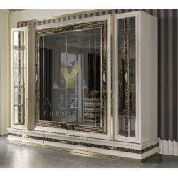 Большой шкаф для одежды в стиле АРТ-ДЕКО Лексус MAZ