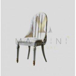 Мягкий стул со спинкой в стиле капитоне Диамант MAZ