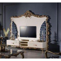 Стенка ТВ для гостиной в стиле барокко Рома