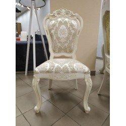 Белый деревянный стул Беатриче с резной короной