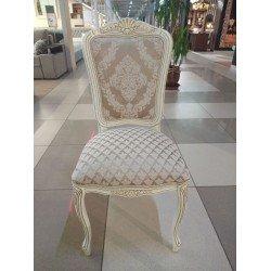 Белый стул с золотом Дебор