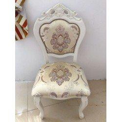 Белый классический стул с короной 8048 Даминг