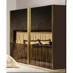 Коричневый шкаф купе с зеркалами для спальни Витра, Турция, REST