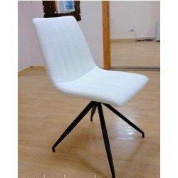 Белый стул из эко-кожи Мишель (Michel  DC-378), Китай