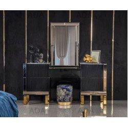Черный туалетный столик с золотом Мун (MOON)