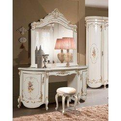 Туалетный столик с зеркалом в стиле барокко Мелани