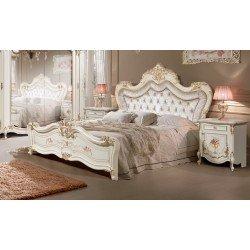 Белая классическая кровать Мелани