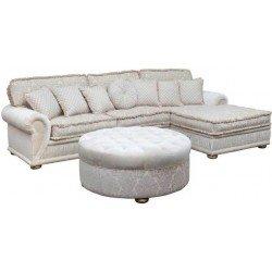 Классический белый угловой диван Джанни, Америка