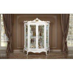 Белая классическая витрина Людовик, Энигма