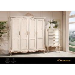 Классический белый шкаф Прованс, Америка