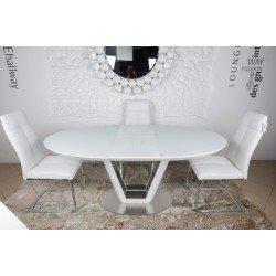 Белый круглый раскладной обеденный стол Денвер (Denwer), Николас