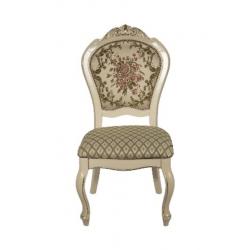 Белый стул с патиной 8016 ( А) в цвете FL, Николас, Daming