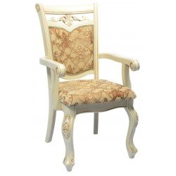 Белый обеденный стул 8801 DP в обивке J, Николас