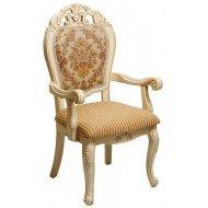 Белое стул-кресло с резным изголовьем Классик 119 DP, обивка I