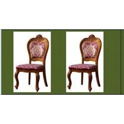 Коричневый классический стул с резным изголовьем, София