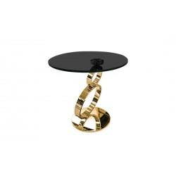Журнальный столик Ринг на золотой ноге