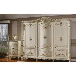 Большой белый шкаф в стиле барокко Равенна