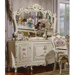 Белый классический столовый буфет для посуды Равенна
