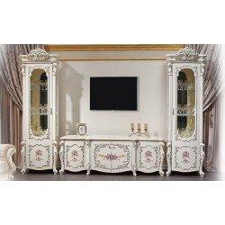 Белая стенка для гостиной Венеция Классик в стиле барокко