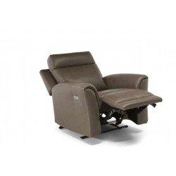 Кожаное итальянское кресло U335 Софтали с реклайнером