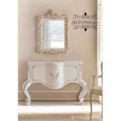 Белая мебель для ванной - тумба с зеркалом Элегна