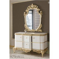 Белая мебель в классическом стиле для ванной Рома