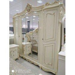 Распашной шкаф на 5 дверей с зеркалом в стиле барокко Клеопатра
